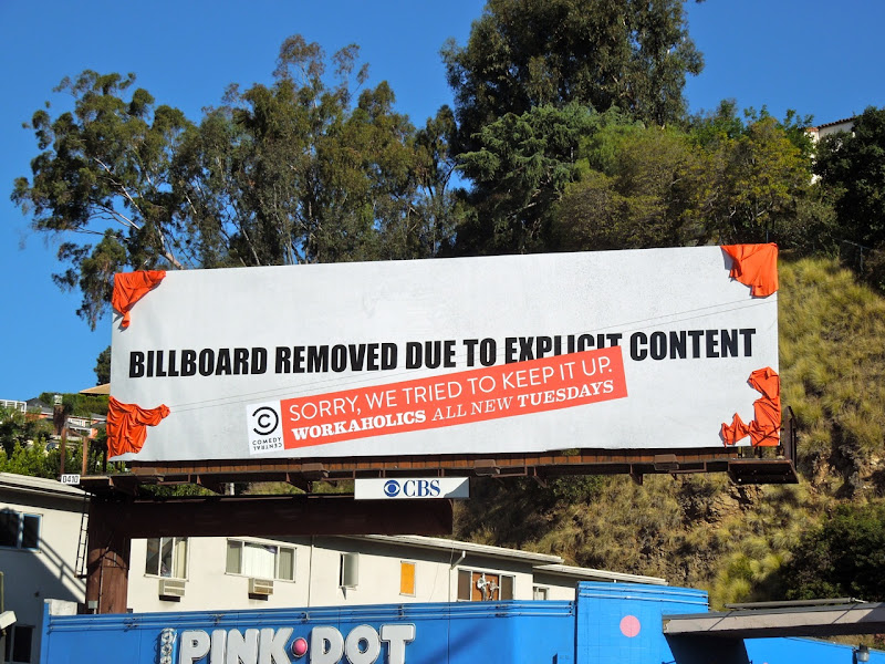Workaholics billboard removed due to explicit content