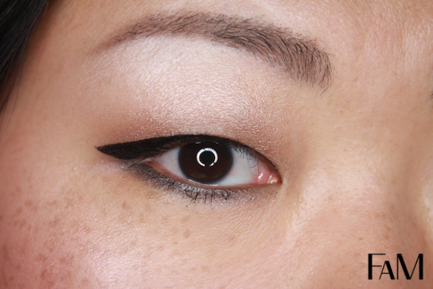 Eyeko skinny liquid eyeliner on asian monolid eyes test demo review