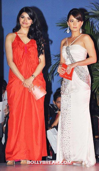 prachi desai in coral dress with Minisha Lamba -  Prachi Desai unseen photos