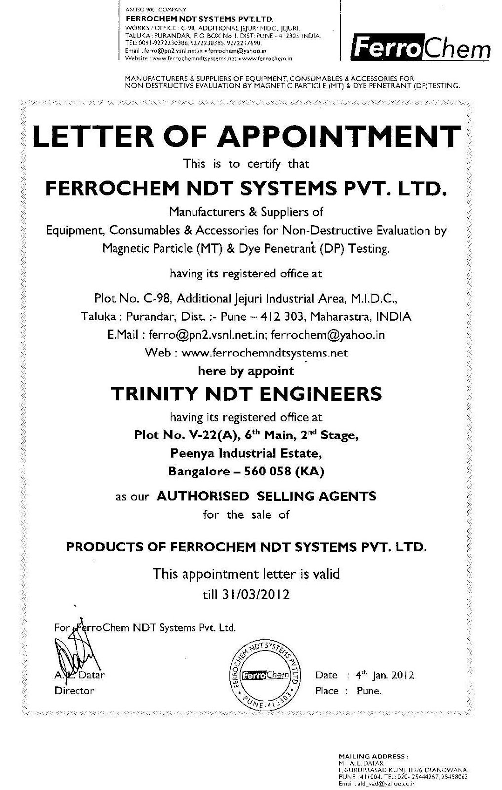 Ndt Training Certification Courses Institute Chennai Tamilnadu