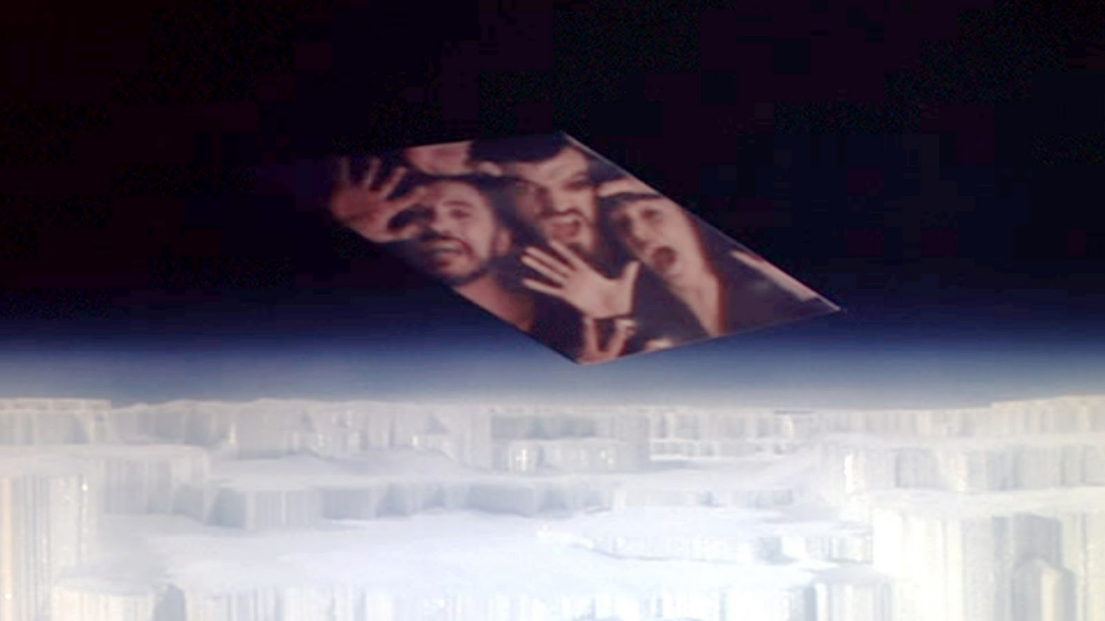 superman page of  the movie superman directed by richard donner seen here trapped in the phantom zone from left terence stamp as general zod jack o halloran as non and