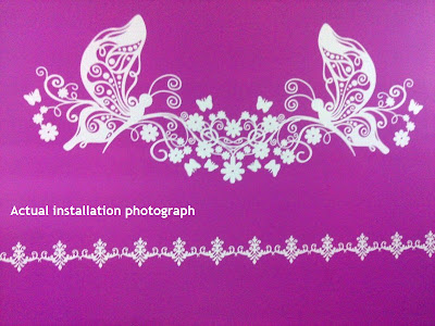 Indoor wall sticker artisic design