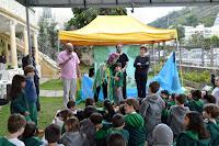 O Secretário de Cultura, Ronaldo Fialho, conversou com as crianças