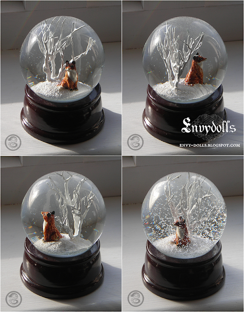kitsune snowglobe