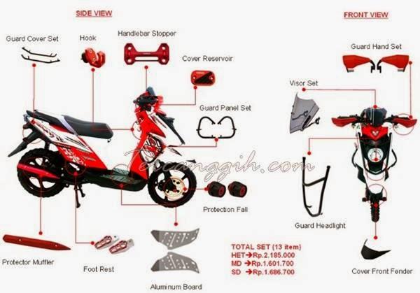 Modifikasi Knalpot Yamaha X Ride