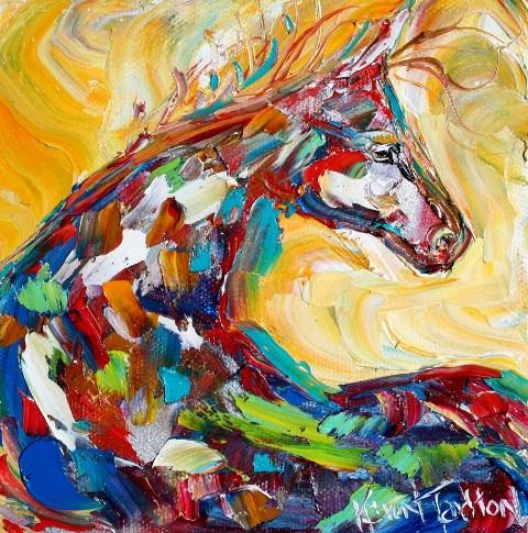 Pintura moderna y fotograf a art stica caballo abstracto for Fotos de cuadros abstractos al oleo