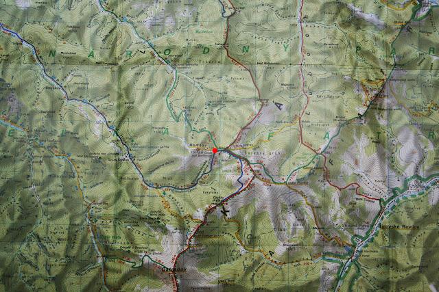 Chata pod Borišovom na mapie