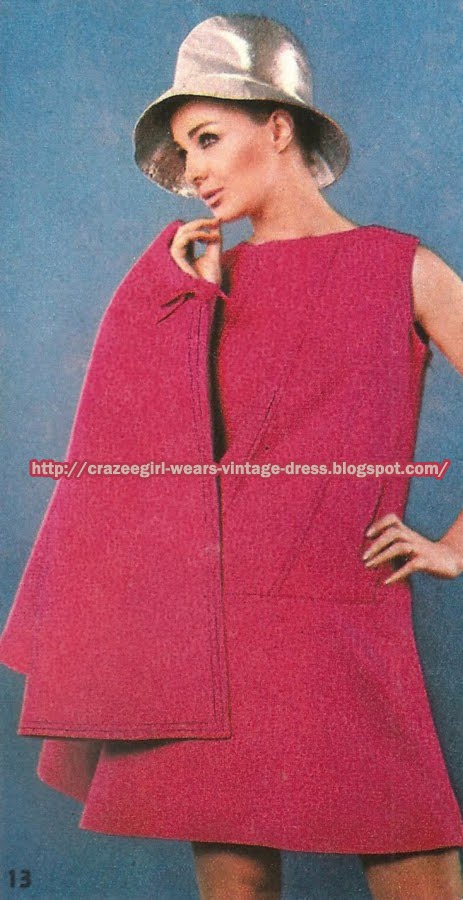Pink cape and dress - Maria Carine pour Jacques Heim 1967 60s 1960