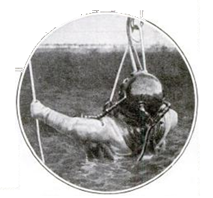 Commander Ellsberg returning from his near-fatal dive on the S-4