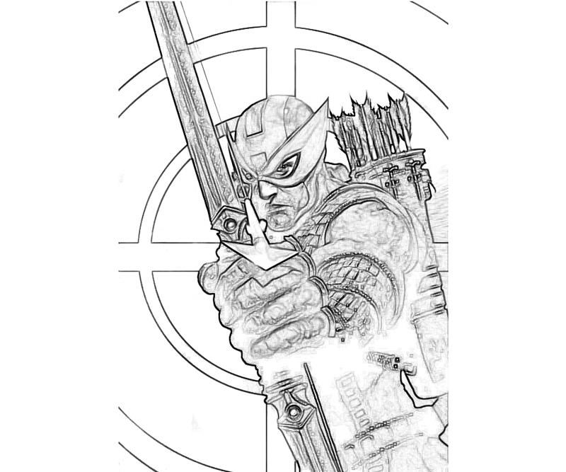 Free Coloring Pages Of Hawkeye From Marvel