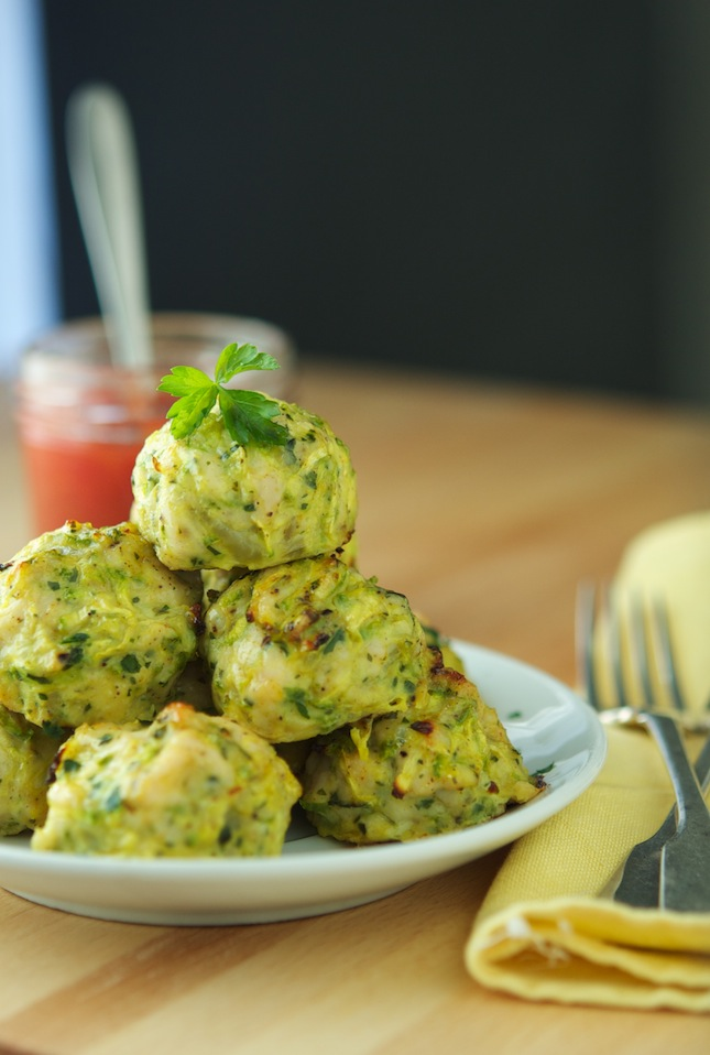 The Iron You: Baked Chicken Zucchini Meatballs