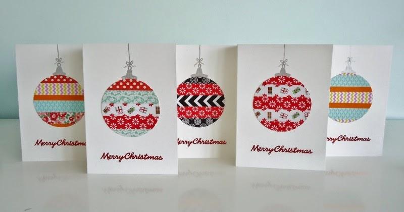 Dinki Dots Craft Washi Tape Christmas Cards