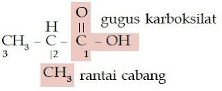 asam 2-metil-propanoat