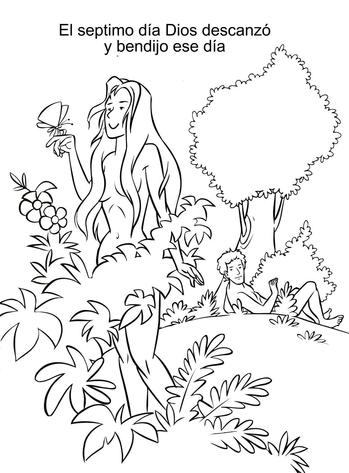 Increíble Adán Y Eva Para Colorear Páginas Para Niños Pequeños ...