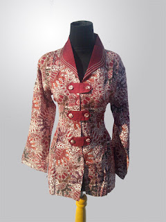 Foto Baju Atasan Bahan Batik