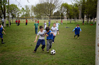 Torneo de fútbol interbarrial en Olavarria