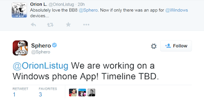 Sphero twitter support