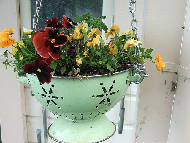 It All Started When I Saw This Unique Way To Repurpose An Old Colander Into  A Hanging Planter At My Neighboru0027s House. She Had Seen It In A Magazine.