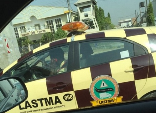 Caught In The Act! LASTMA Official Making Call While Driving