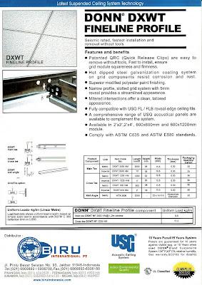 Plafond Akustik USG
