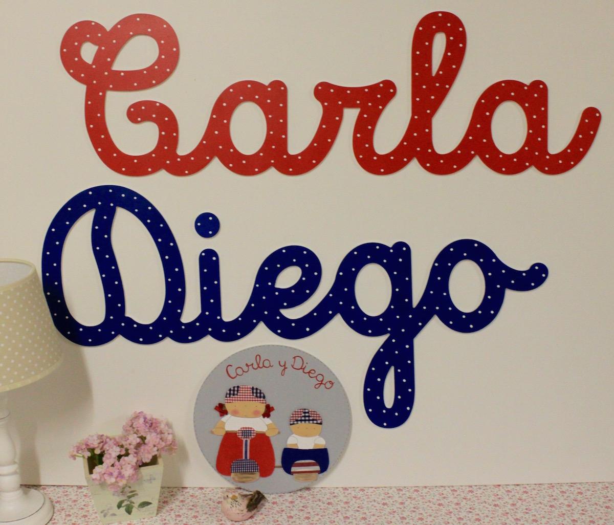 nombres en caligrafa y letras para decoracin infantil