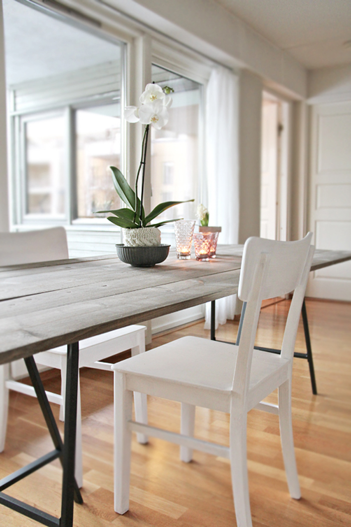 6 diy tables to try poppytalk - Trendy dining tables ...
