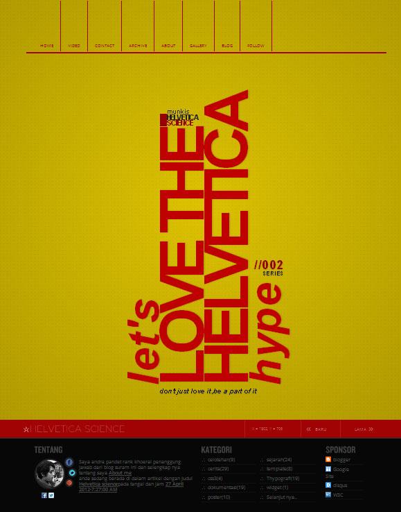 Helvetica science