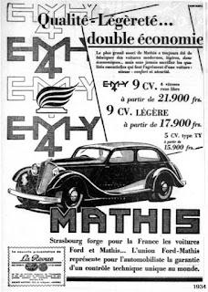 Publicidad coches años 30