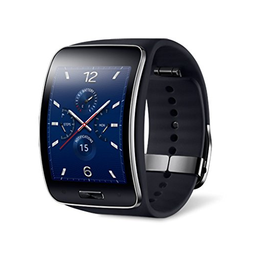 Samsung Galaxy Gear S R750W Smart Watch w/ Curved Super AMOLED Display (Black) - International Version No Warranty - image