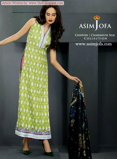 Asim Jofa Midsummer Collection 2014