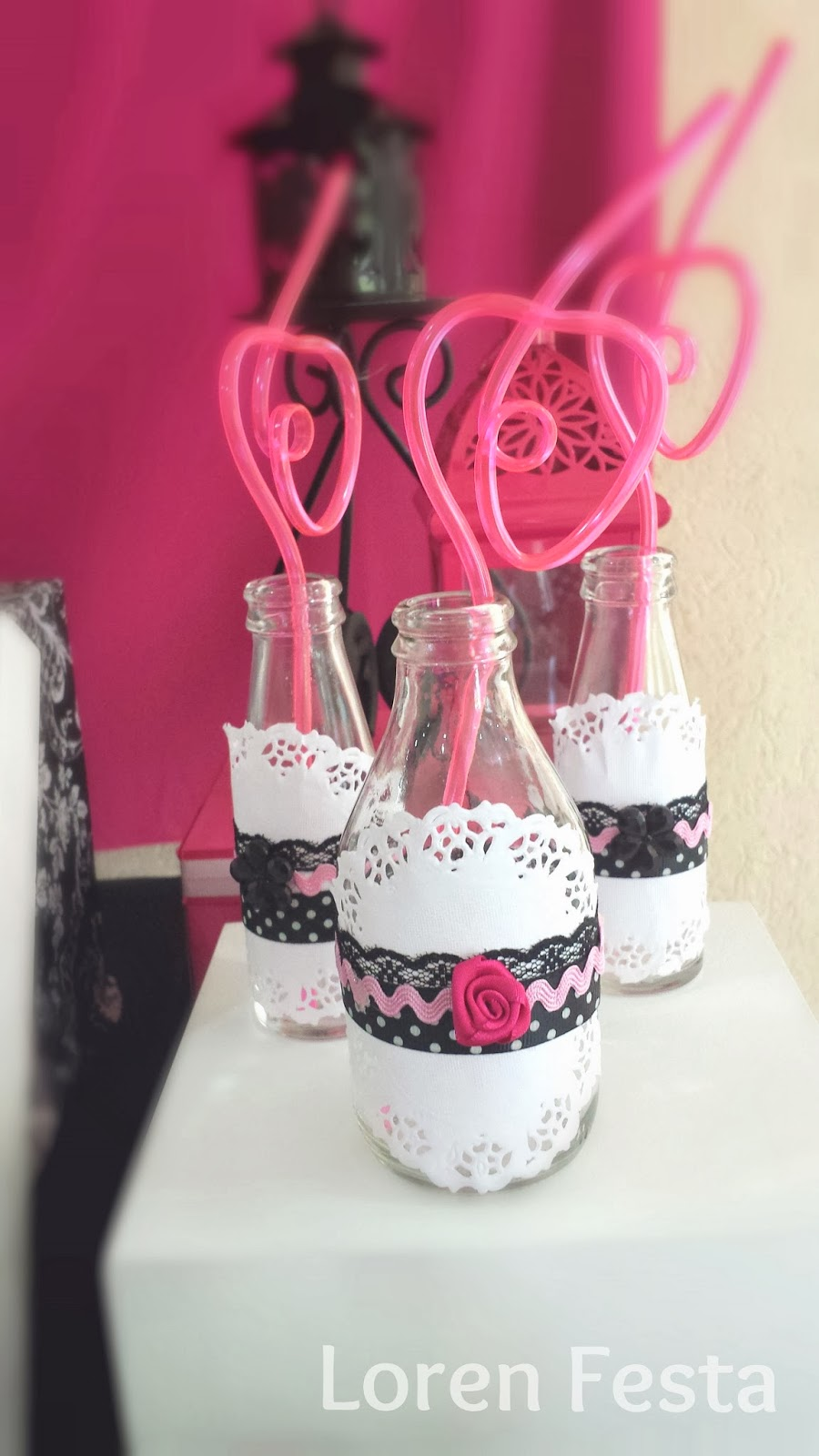 Excepcional Loren Festa : Festa Paris - Festa Pink e Preto - Loren Festa AS43