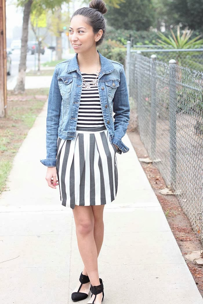how to pattern mix with stripes