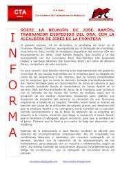 SOBRE LA REUNIÓN DE JOSÉ RAMÓN, TRABAJADOR DESPEDIDO DEL ORA, CON LA ALCALDESA DE JEREZ DE LA FRONT