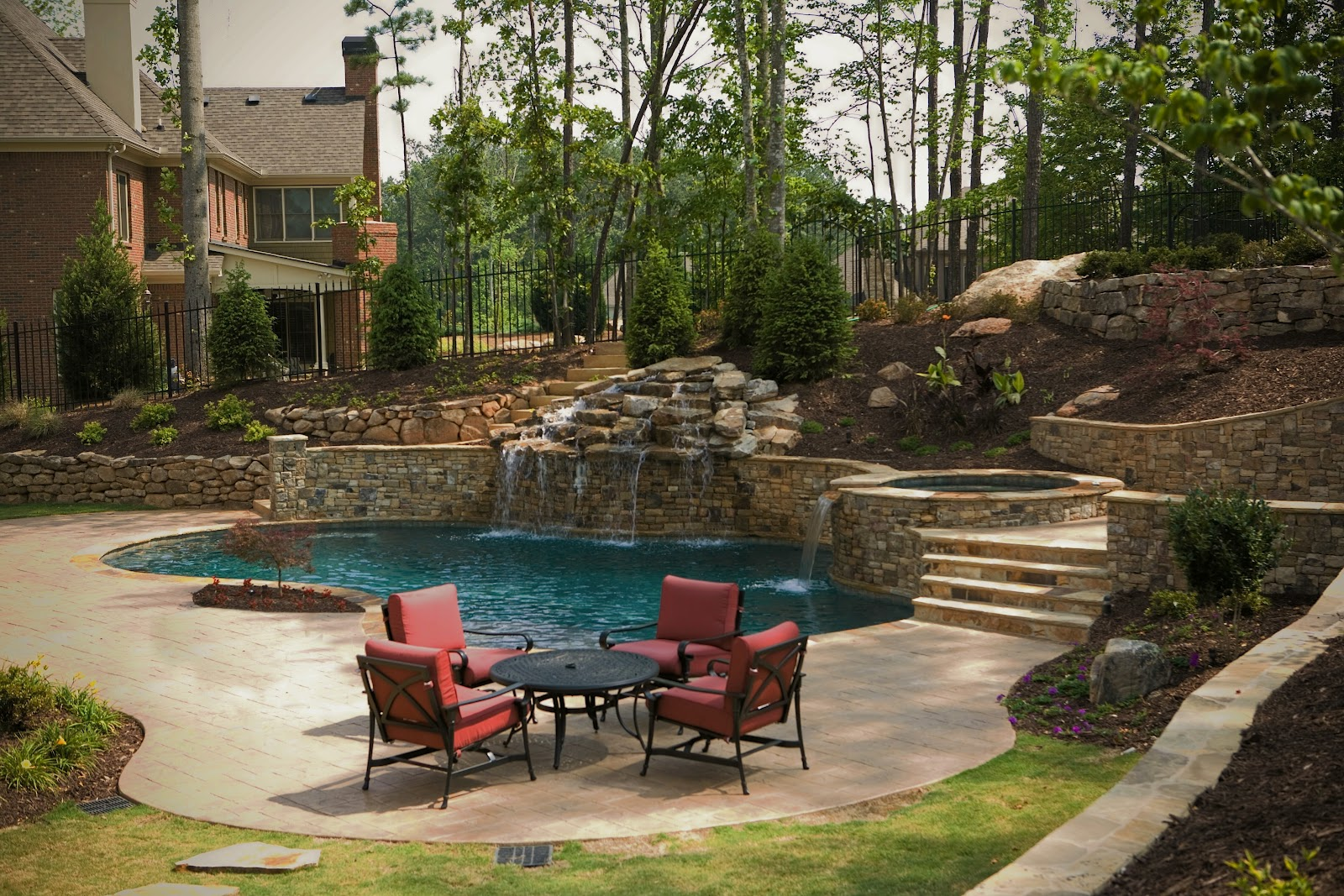 Backyard Oasis Pools Free Form Pool Creekstone