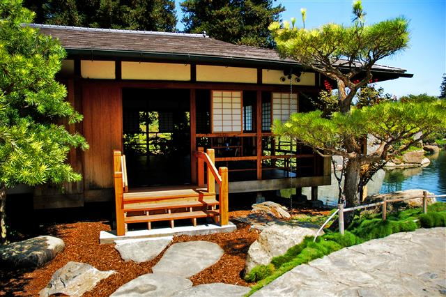 Japanese porch for Home designs traditional