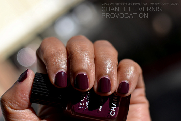 Chanel Makeup Les Twin Sets Fashions Night Out FNO Nail Polish Vernis Color Provocation Indian Beauty Blog Reviews Swatches NOTD