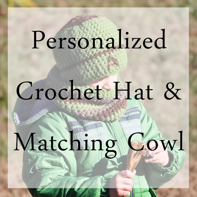 Personalized kids Crochet Hat & Matching Cowl