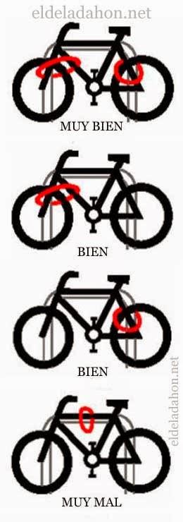 Como candar correctamente tu bici