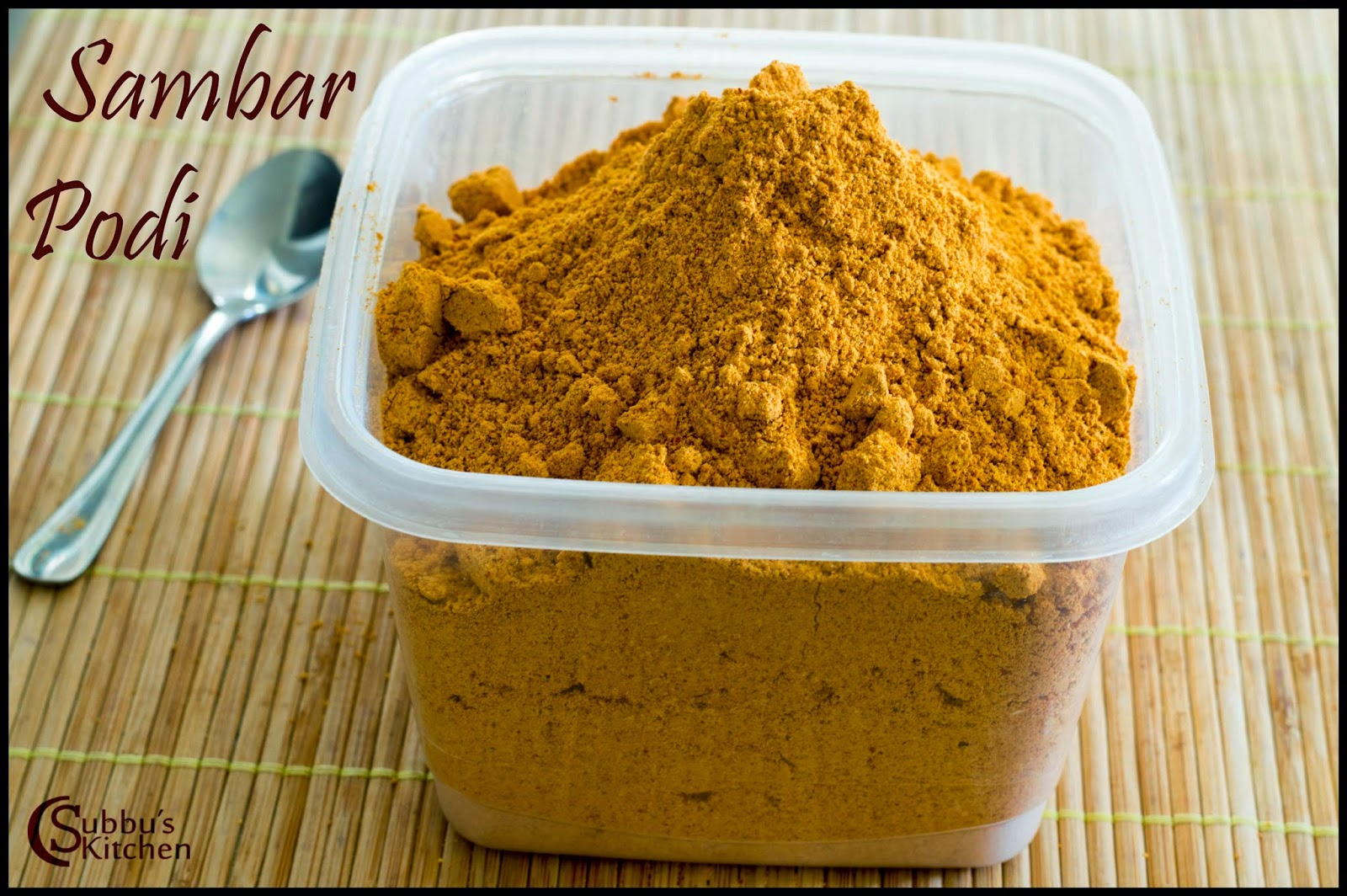 Sambar Powder(Sambar Podi/Masala) Subbus Kitchen