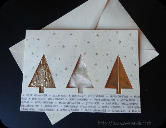 Favolas lesestoff favola bastelt weihnachtskarten for Originelle weihnachtskarten