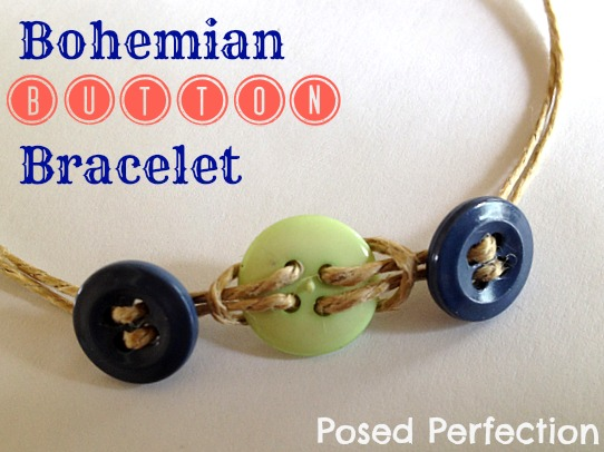 Bohemian styled button bracelet by Posed Perfection, featured on I Love That Junk