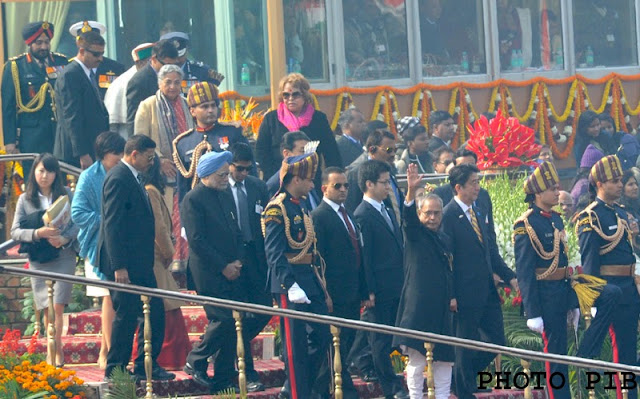 President Pranab Mukherjee with P.M. Japan Mr. Shinzo @ Republic Day