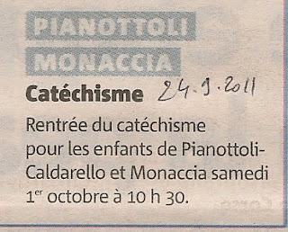 Catéchisme 2011