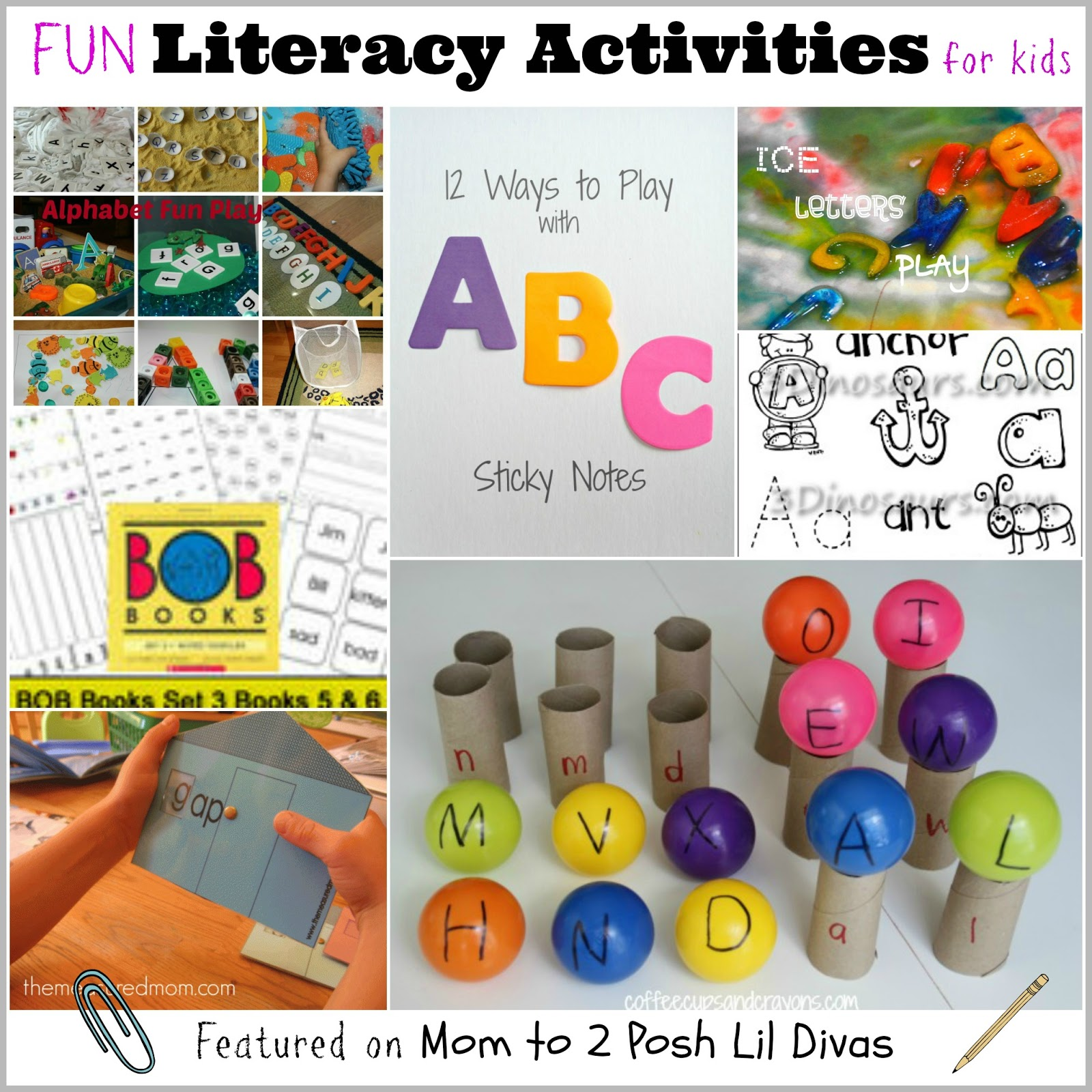 Mom to 2 Posh Lil Divas: Literacy Activities for Kids {The Sunday ...
