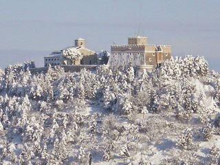 Campobasso. Il castello Monforte innevato