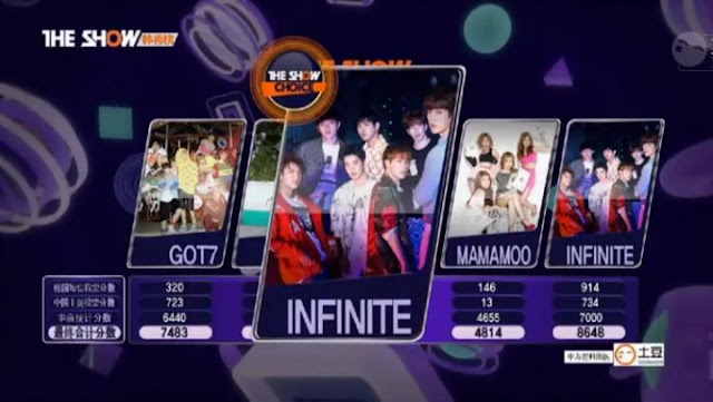 infinite bad first win the show