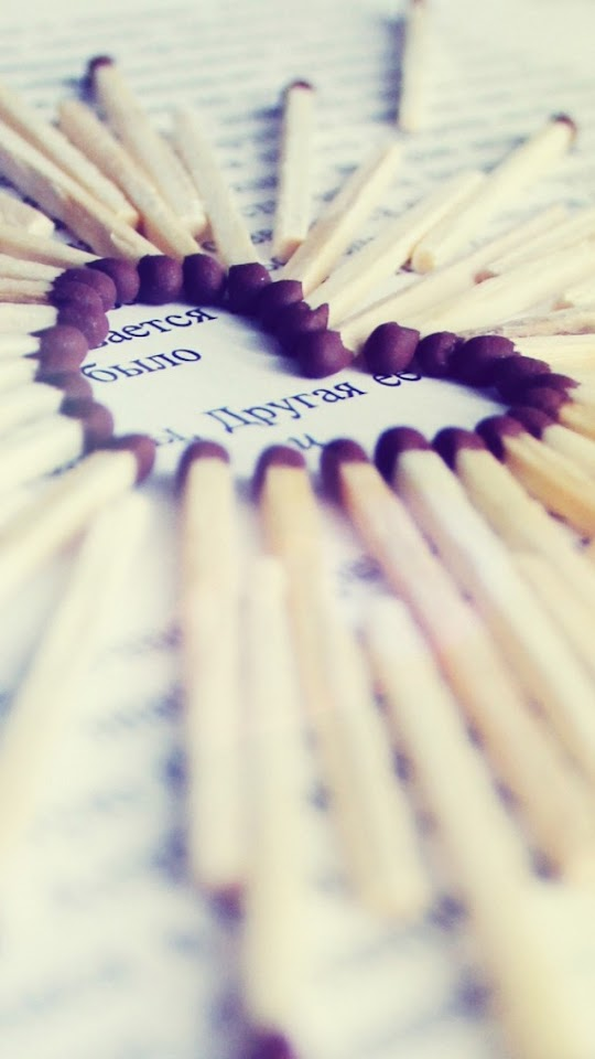 Love Heart Of Matches   Galaxy Note HD Wallpaper