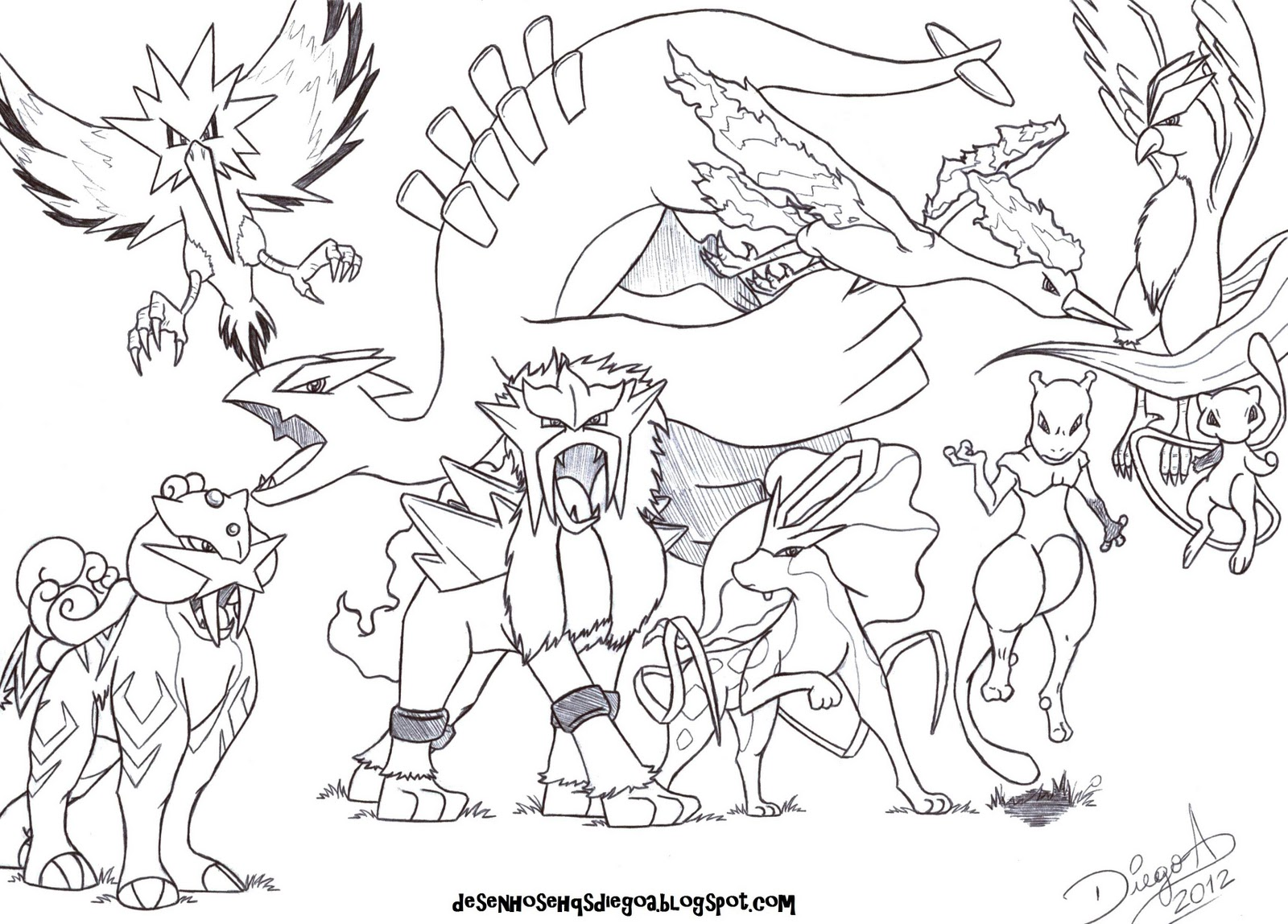 zapdos coloring pages - photo #16