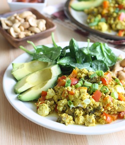 curry scrambled tofu recipe with sweet curry powder