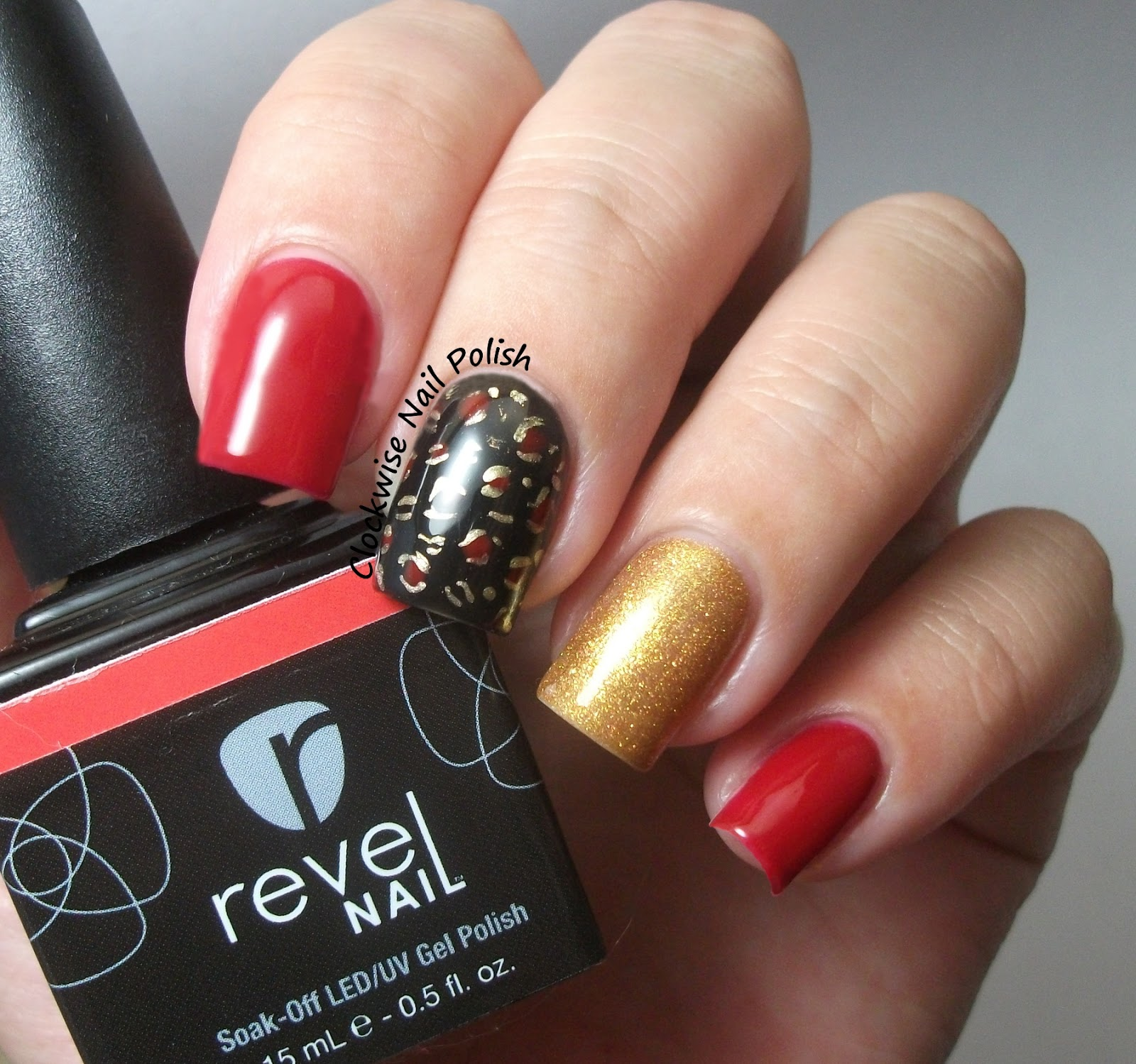The Clockwise Nail Polish Revel Festival Review Leopard Print Mix Match